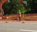 Временное ограждение при ремонте дорог
